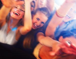 teens at a club
